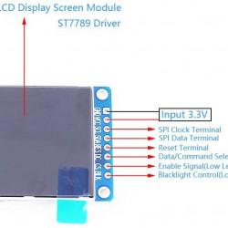 """1.54"""" 240 X 240 pixel TFT IPS LCD"""