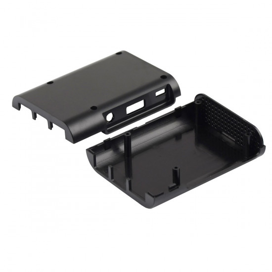 Raspberry Pi 3 and 2 Black ABS Case