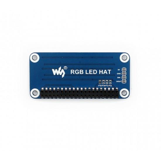 RGB HAT For Raspberry Pi 4 x 8 LED